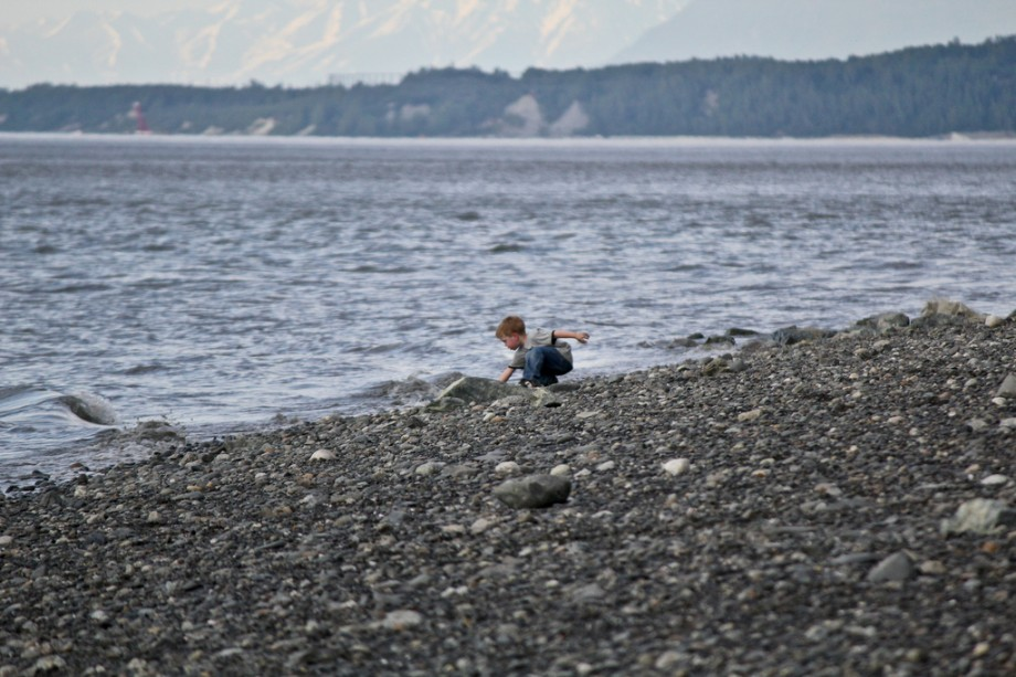Child on Anchorage Beach