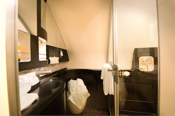 Etihad A380 Residence - The Bathroom