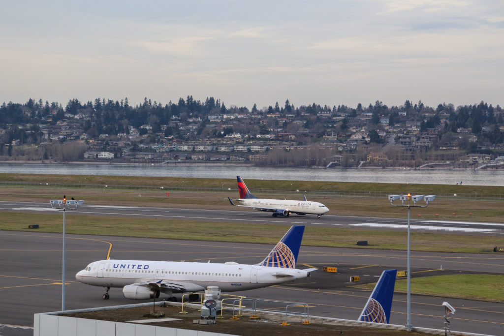 Delta and United at PDX